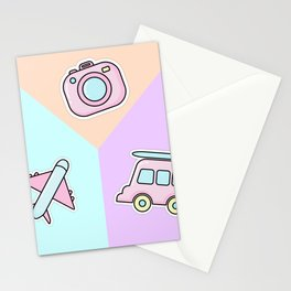 Travel Stickers Stationery Cards