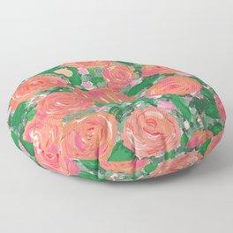Blushing Roses Floor Pillow