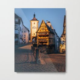 Rothenburg Ob Der Tauber Bavaria Germany Metal Print