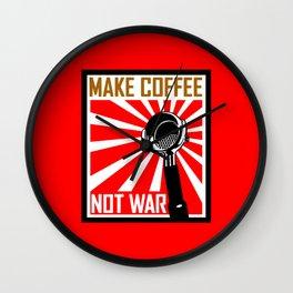 Japanese Propaganda Coffee Poster Wall Clock
