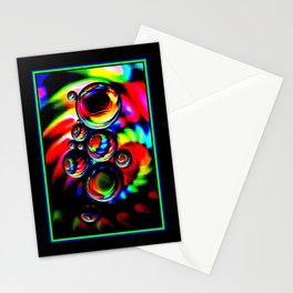 Neon Globes Stationery Cards