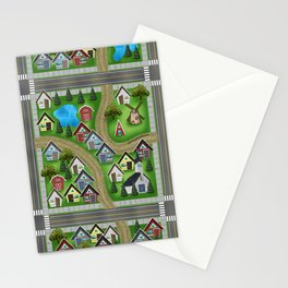 Tiny Cottages in a Tiny World Stationery Cards