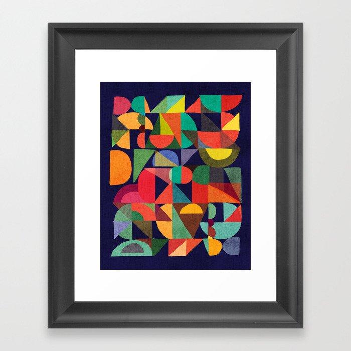 Color Blocks Gerahmter Kunstdruck