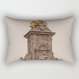 Victoria Monument as seen from Buckingham Palace side London England Rectangular Pillow