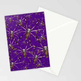 Watercolor Graphic 07, Spider Crawl, Golden Orb Weaver Royale Stationery Cards
