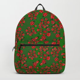 Ladybug in green Backpack