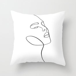 Portrait of a girl Throw Pillow