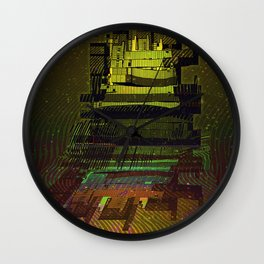 Building 08-07-16 / COSMIC MIRROR at NIGHT Wall Clock