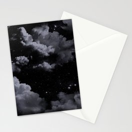 Night Sky with Clouds Stationery Cards