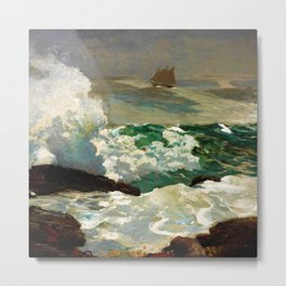 Winslow Homer1 - On A Lee Shore - Digital Remastered Edition Metal Print