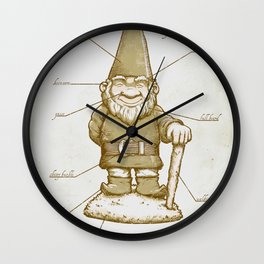Gnomenclature Wall Clock