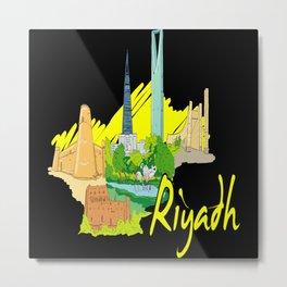 Riyadh Saudi Arabia Metal Print