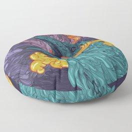 Water Crow Floor Pillow