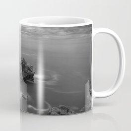 Big Sur, California Pacific Coast Highway coastal beach black and white photograph / art photography Coffee Mug