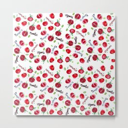 Tomatos pattern Metal Print