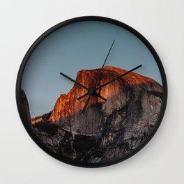 Yosemite Half Dome Glow Wall Clock