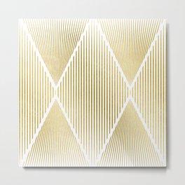 Folded Gold Metal Print