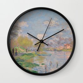 Spring by the Seine Wall Clock