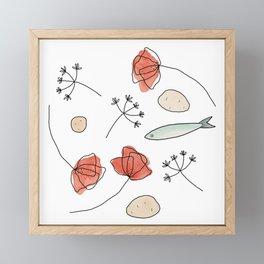 Midsummer Table Framed Mini Art Print