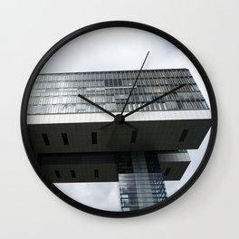 Kranhaus in Köln Wall Clock