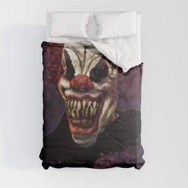 Scary Clown Purple Smoke Comforters