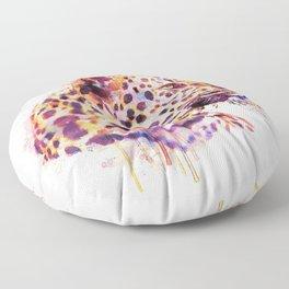 Leopard Head Floor Pillow