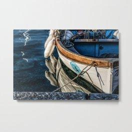 Reflections Boat Metal Print