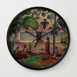 """Paul Gauguin """"The Large Tree"""" Wall Clock"""