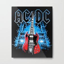 AC/DC Electro Metal Print