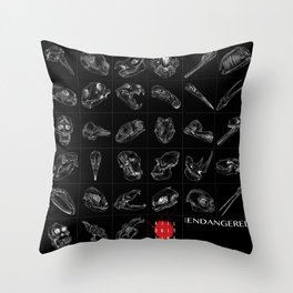 Endangered Species 2018 Throw Pillow