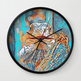 AnimalMix_Iguana_005_by_JAMColors Wall Clock