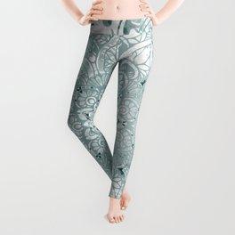 Yoga, Mandala, Prints Green, Wall Art Boho Leggings