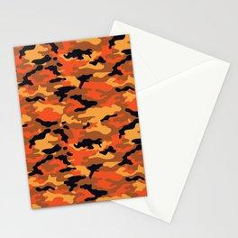 camouflage orange Stationery Cards