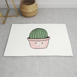 Cute smiling cactus Rug