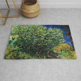Lilac Bush by Vincent van Gogh Rug