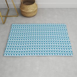 Letter A Waves Pattern Rug
