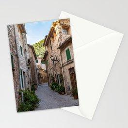 Empty street in Valldemossa village - Mallorca, Spain Stationery Cards