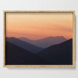 Watercolor Sunset, Estes Park 08 Serving Tray