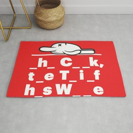 RABBIGFOOT- FAVE MOVIE POSTERS Rug