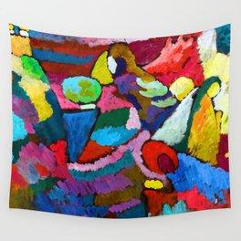 Wassily Kandinsky Mahogany Improvisation Wall Tapestry