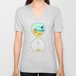 Summer time Unisex V-Neck