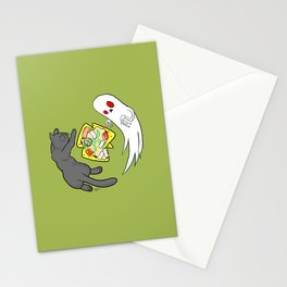 Nachos, Cats, and Ghosts Stationery Cards