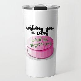 Happee birthdae harry cake movie Travel Mug