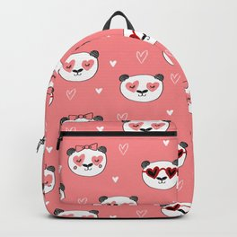 Panda Valentine's day animal love cute heart glasses valentine gifts Backpack