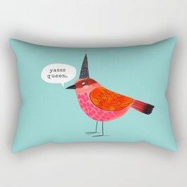 Birds With Attitude: Yasss Queen Rectangular Pillow