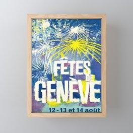 fetes de geneve 12 13 et 14 aout vintage Poster Framed Mini Art Print