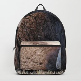 Buffalo Bison Up Close Backpack