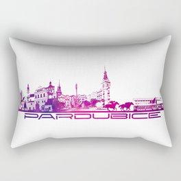 Pardubice skyline city purple Rectangular Pillow