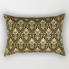 Glamorous Gold Art Deco Pattern Rectangular Pillow