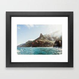 Napali Glow Framed Art Print